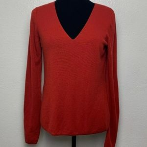 T  Alexander Wang Rust/Red V-Neck Sweater Medium